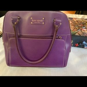 Kate spade purple leather handbag